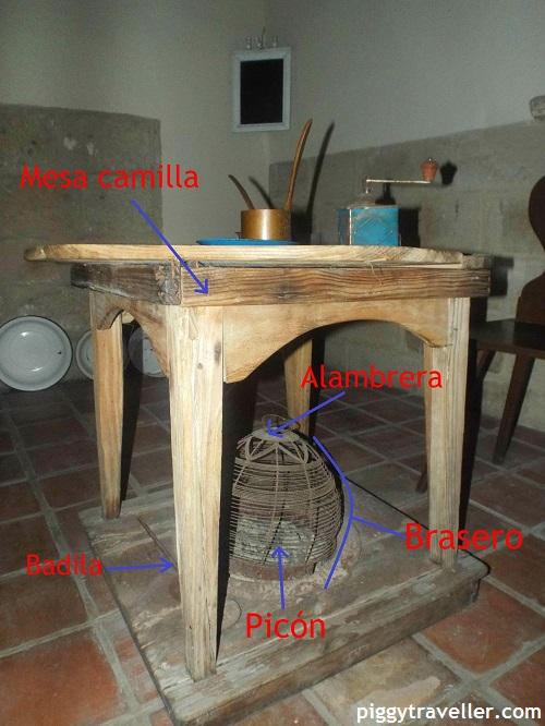 heated table