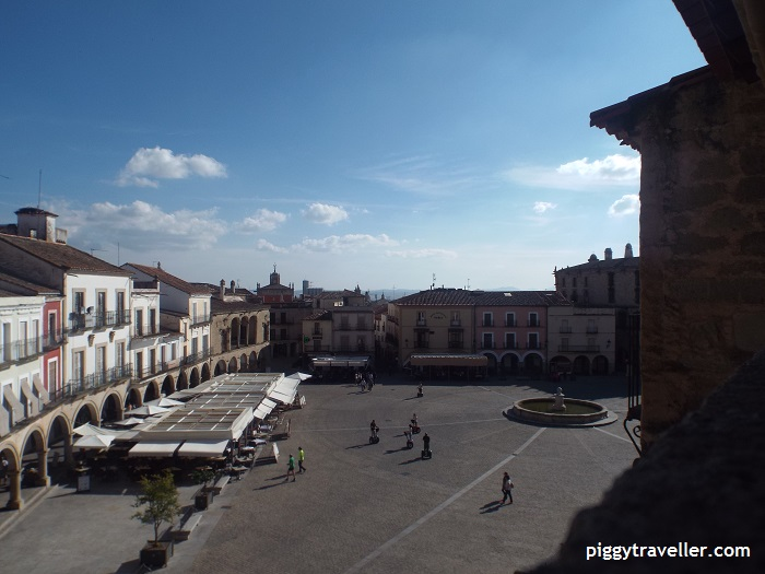 view of trujillo main square from san martin church