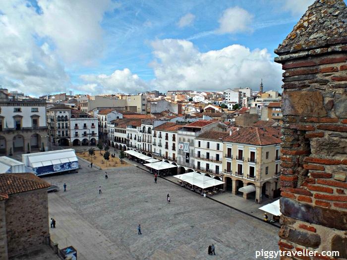 caceres main square views