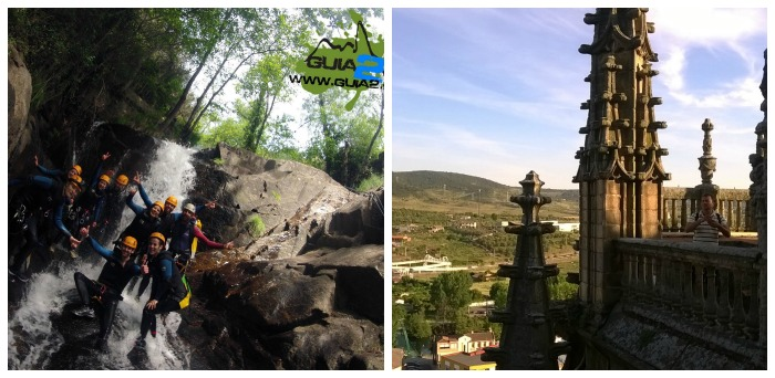 Canyoning in Jerte and Plasencia cathedral