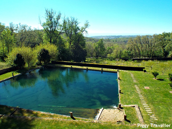Yuste Monastery, pond and garden