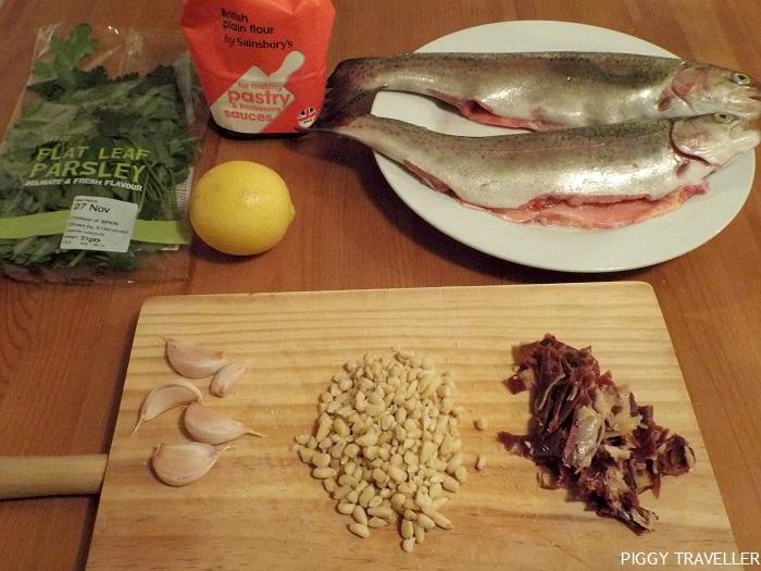 trout recipe, ingredients