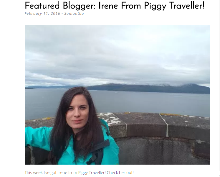 Featured Blogger: Irene From Piggy Traveller!