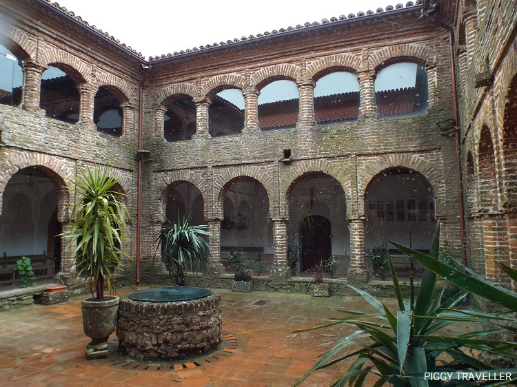 monastery courtyard, extremadura