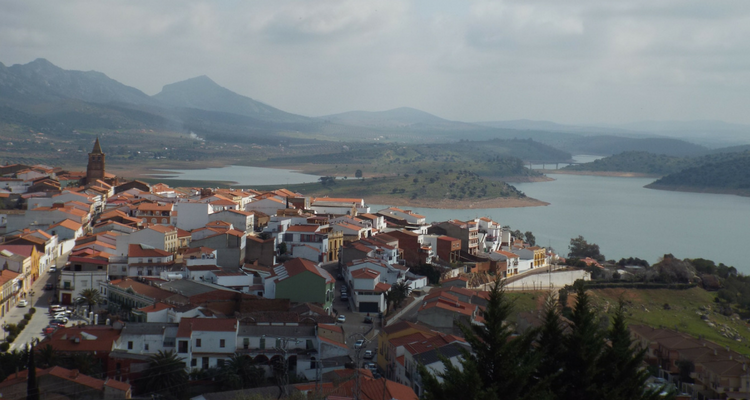 Extremadura castles: views from castillo de Alange