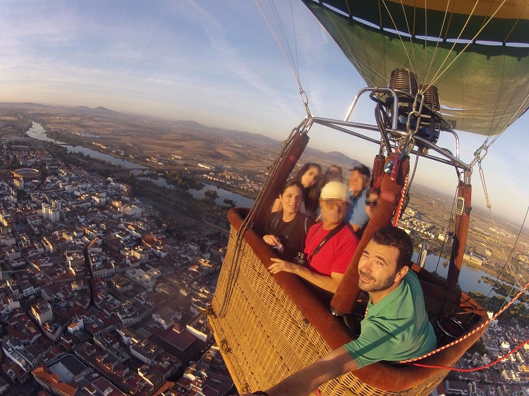 Hot air balloon Merida, Extremadura en globo