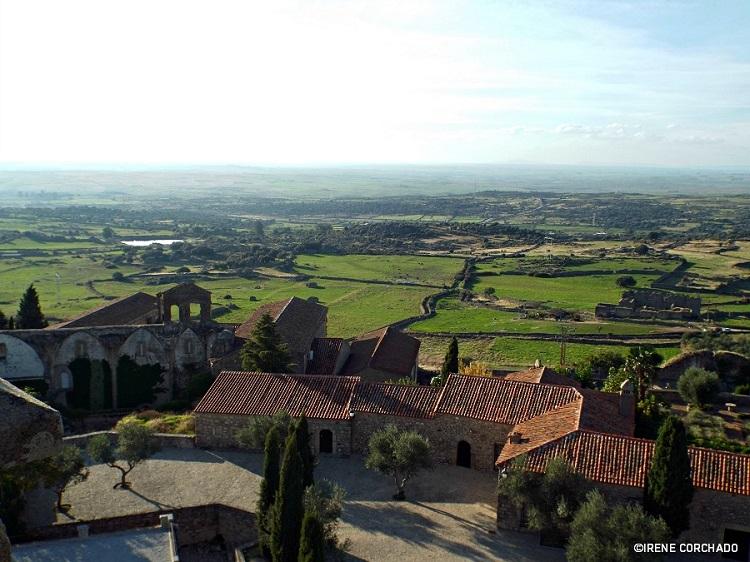 Countryside views from Santa Maria la Mayor Church, Trujillo, Spain