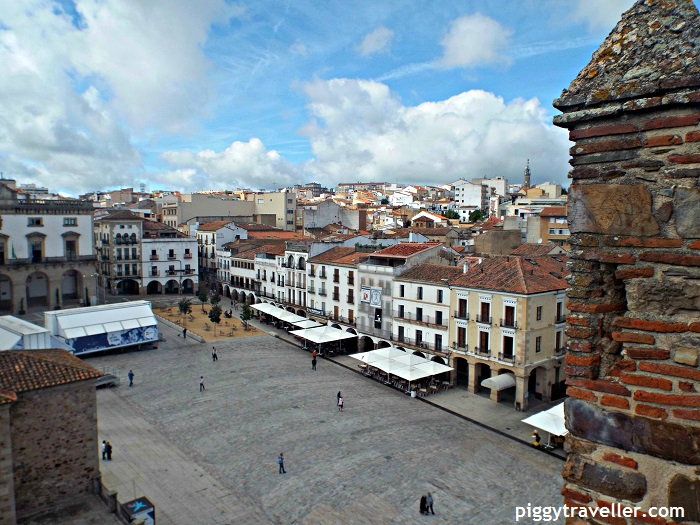 caceres main square views