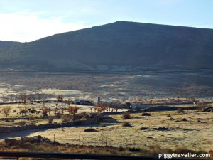 Madrid-Plasencia by coach. Great views.