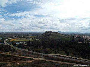 Medellin castle views from restaurante Quinto Cecilio