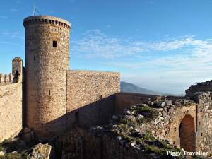 Puebla de Alcocer castle. Main patio.