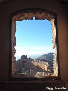 Puebla de Alcocer castle. Views from the keep.