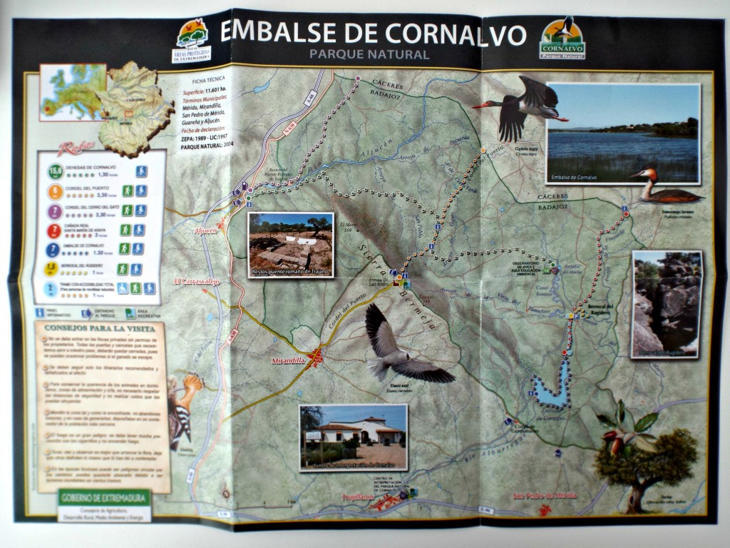 map of cornalvo natural park