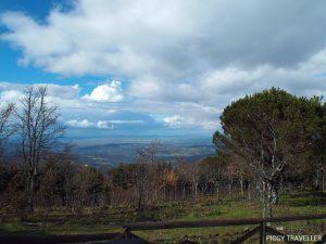 extremadura, views from the tentudia monastery