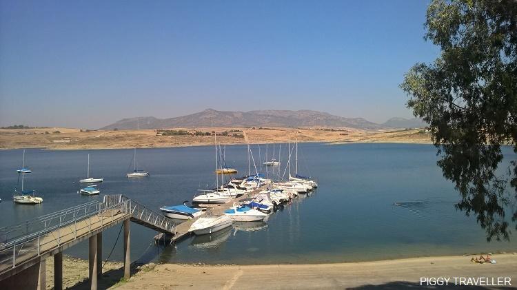 boats, Orellana reservoir Extremadura