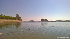 view of the Orellana reservoir, Extremadura