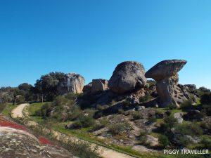 rocks in los barruecos, extremadura