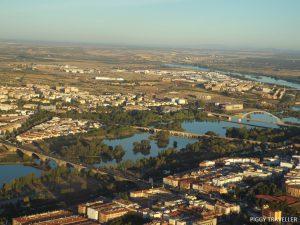 Hot air balloon Merida, Extremadura