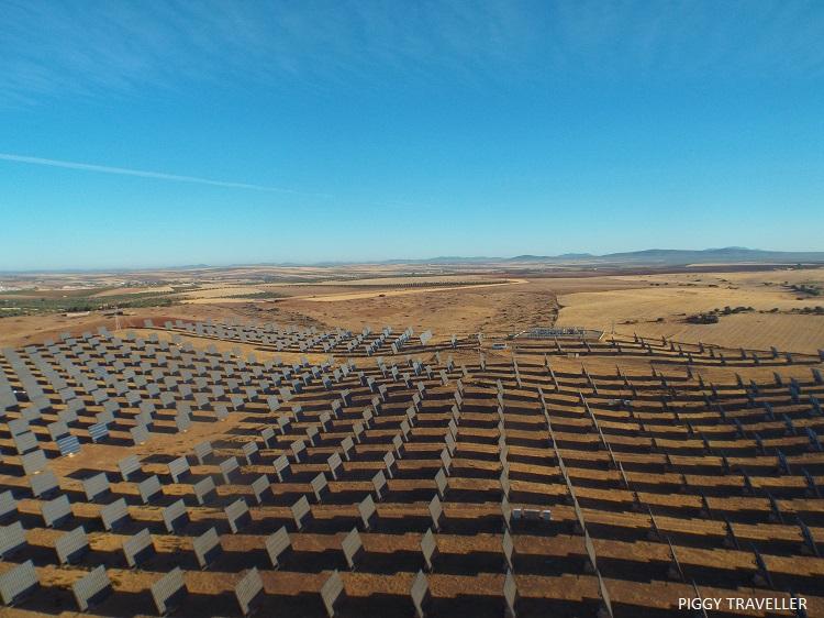 solar panels, Merida, Extremadura