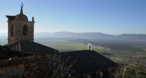 Extremadura castles - Benquerencia de la Serena, view of church