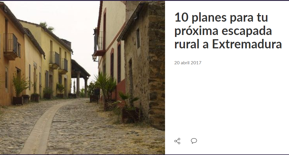 10 planes para tu próxima escapada rural a Extremadura