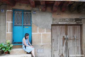 San Martin de Trevejo, Sierra de Gata, Extremadura_blue door