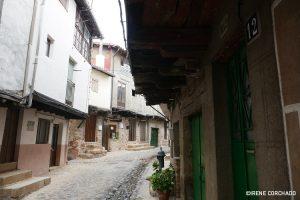 San Martin de Trevejo, Sierra de Gata, Extremadura_green doors